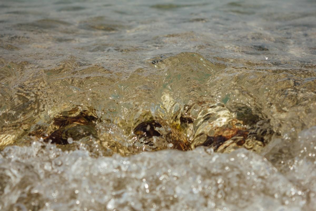 wave, close-up, ripple, liquid, transparent, bauble, coast, coastline, ocean, water