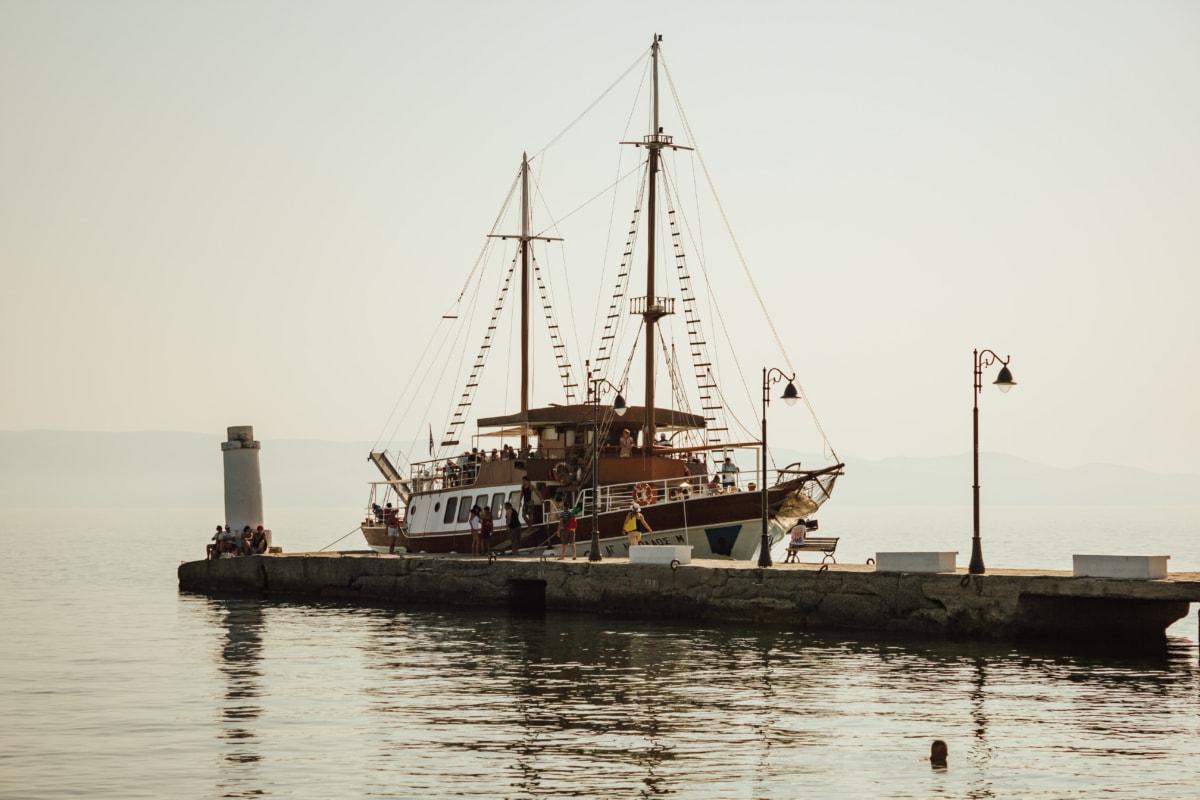 sailboat, dock, sailing, ecotourism, tourist attraction, tourism, watercraft, pirate, craft, sea