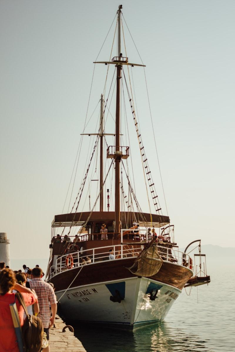 ecotourism, sailboat, resort area, tourist attraction, boat, sea, port, fisherman, harbor, ship