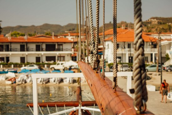 travel, rope, sailboat, tourist attraction, navigation, water, boat, watercraft, sea, harbor