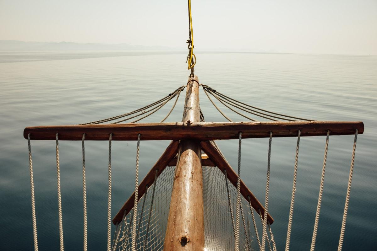 calm, barca cu panze, Oceanul, soare, navigatie, barca, dig, coarda, apa, mare