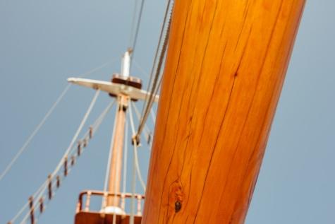 Plachetnica, drevené, loďou, loď, more, voda, paluba, plachta, jachta, plachtenie