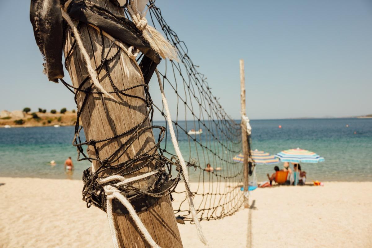 volleyball, summer, beach, sport, relaxation, recreation, sand, ship, equipment, rope