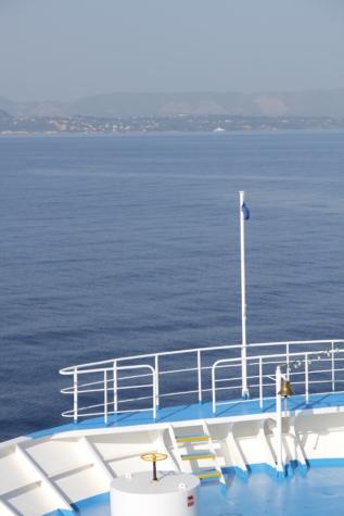 däck, mast, kryssningsfartyg, klocka, vatten, havet, hav, fartyget, pir, båt
