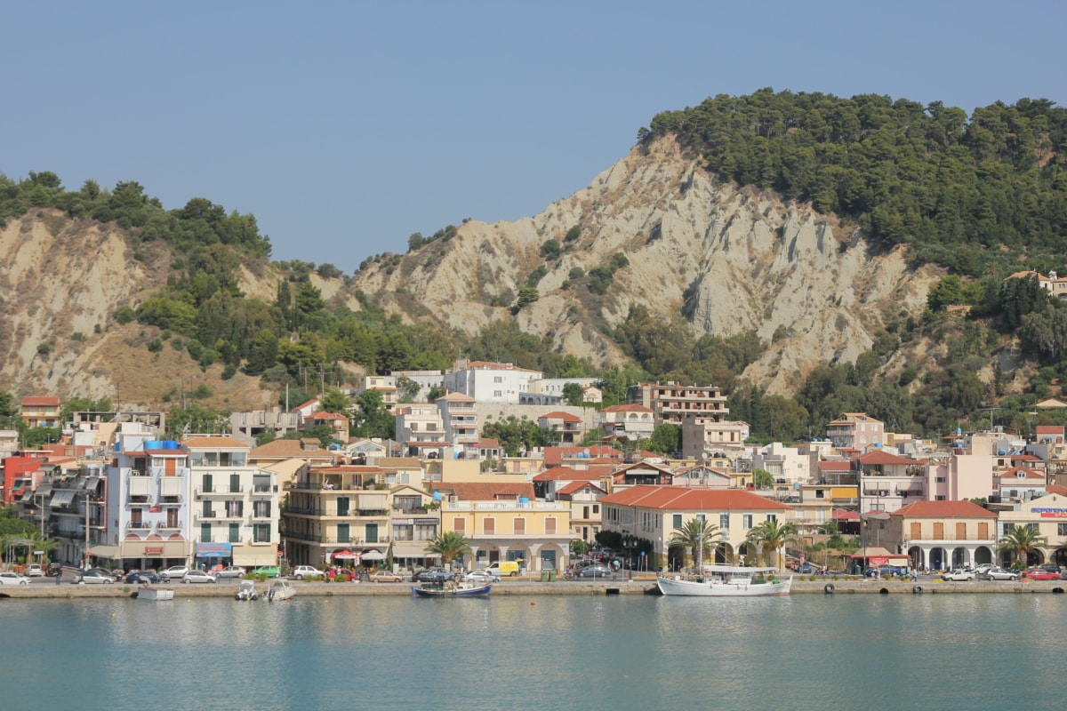 greece, resort area, hotel, coastline, city, sea, lakeside, harbor, shore, waterfront