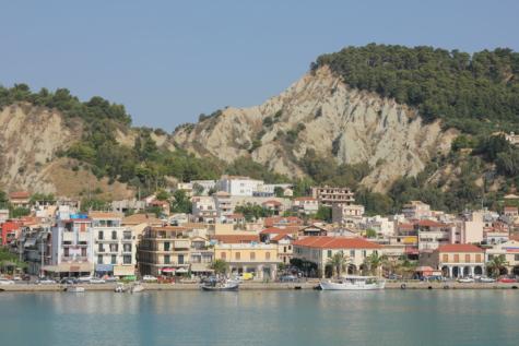 Grécia, área de Resort, Hotel, litoral, cidade, mar, beira do lago, Porto, Costa, beira-mar