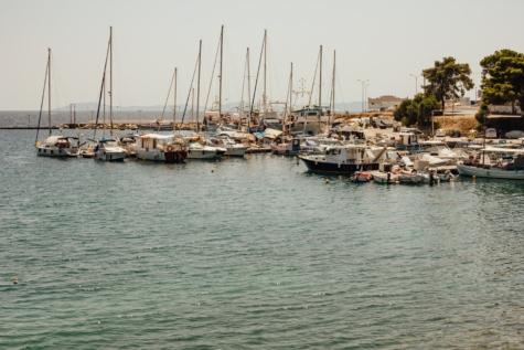 마리나, 그리스, 선 창, 범선, 하버, 선박, 선박, 보트, 바다, 물