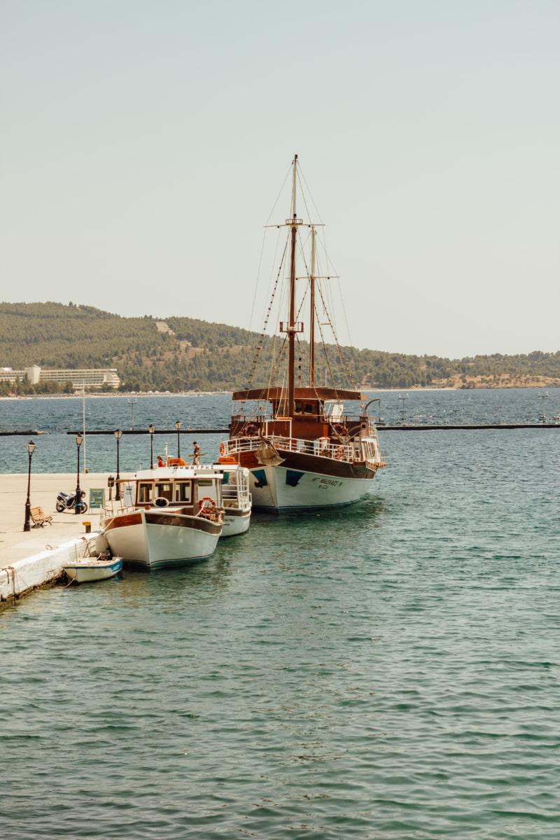 dock, sailboat, watercraft, ship, water, sea, marina, port, fishing boat, harbor