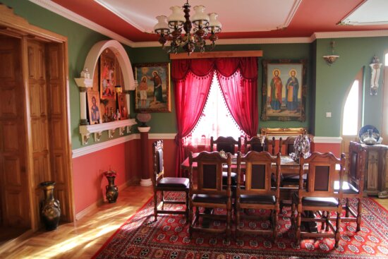 room, furniture, Serbia, dining area, traditional, religious, home, chair, house, seat