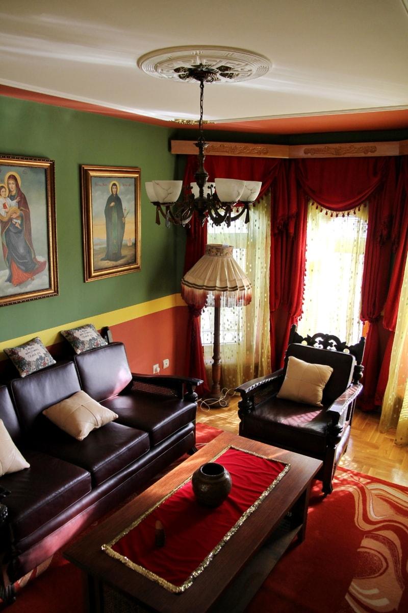 křeslo, lustr, gauč, pohovka, výtvarné umění, Obývací pokoj, závěs, malba, design interiéru, pokoj