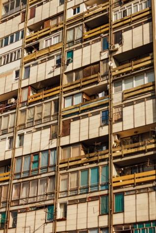 социализъм, апартаменти, крайградски, архитектурен стил, градска зона, прозорец, градски, град, сграда, архитектура