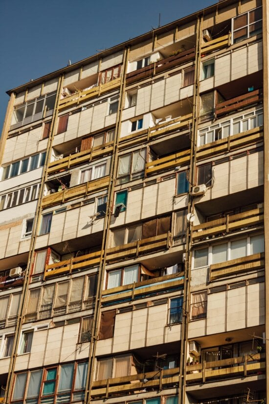 building, socialism, facade, old style, apartments, urban, architecture, structure, balcony, city