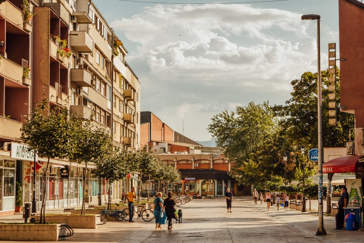 walking, Serbia, people, street, city, architecture, building, house, residence, tourist