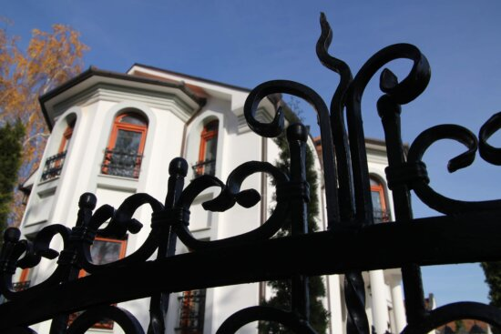 cast iron, residence, house, entrance, fence, art, architecture, old, street, urban