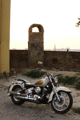 オートバイ, 通り, 金属, クロム, 横から見た図, アンティーク, 古い, アーキテクチャ, クラシック, アウトドア