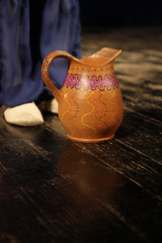 handmade, pitcher, terracotta, object, cup, container, tea, drink, pottery, still life