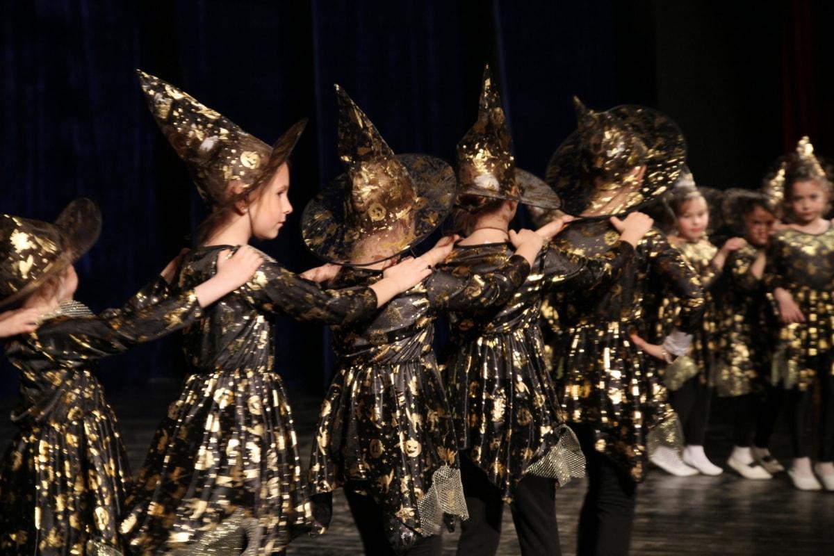 Halloween, theatre, children, performance, dance, outfit, people, girl, dancing, model