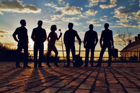 silhouette, band, group, musician, artist, singer, guitarist, sunset, people, dawn