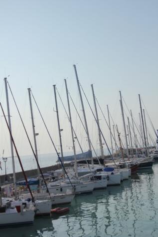 Yacht club, kikötő, jachtok, vitorlás hajó, árboc, tenger, csónak, jacht, Port, víz