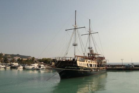 régi, vitorlás hajó, kikötő, Yacht club, víz, vitorla, hajó, kézműves, tenger, kalóz