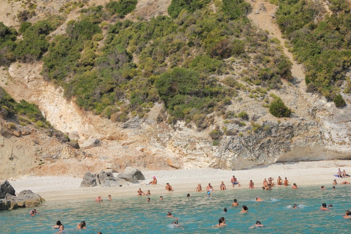 beach erosion, swimming, swimmer, beach, seashore, ocean, basin, sea, water, landscape