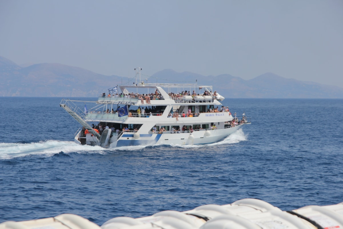 ferry, cruise ship, holiday, ecotourism, crowd, people, sea, ship, transport, transportation