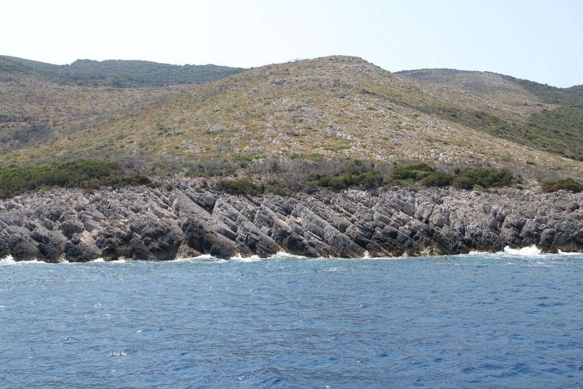 landscape, sea, coast, ocean, water, basin, beach, nature, mountain, seashore