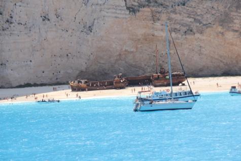 brod, brodolom, odmor, ljetna sezona, brodovi, otok, plivač, voda, ocean, zanat