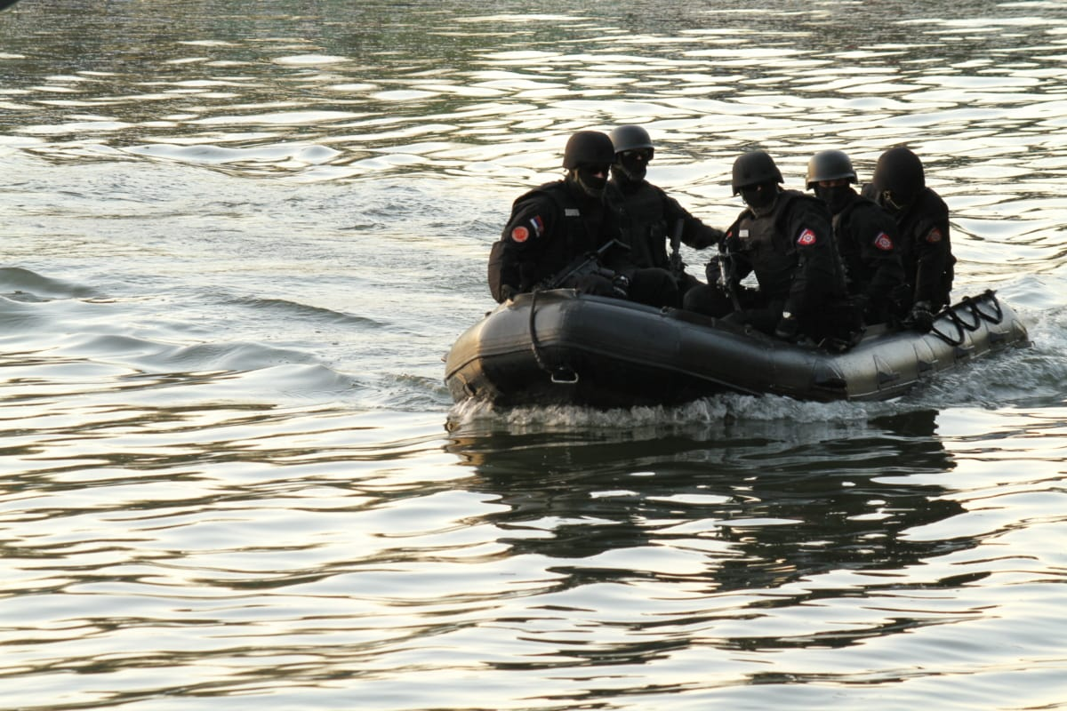 patrol boat, military, law enforcement, police, water, river, boat, action, people, lake