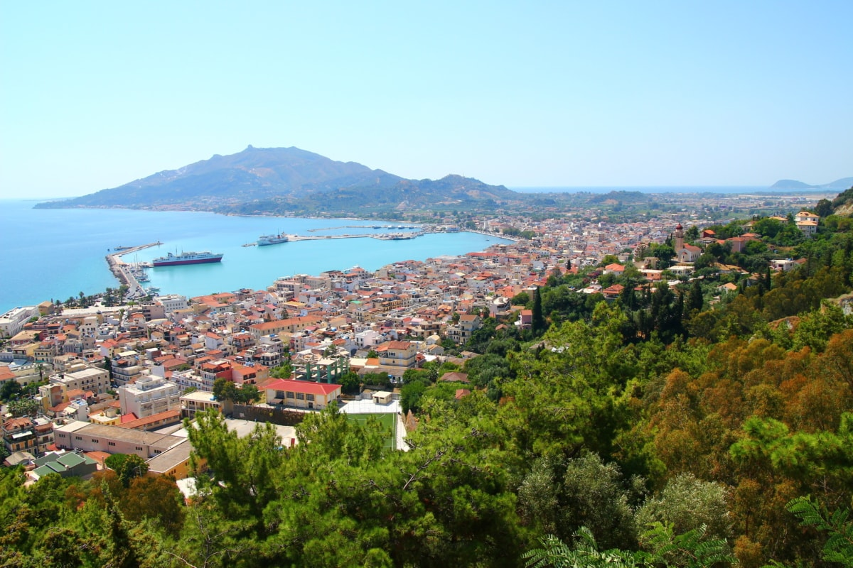 town, tourism, overlooking, panorama, landscape, city, water, architecture, seashore, sea