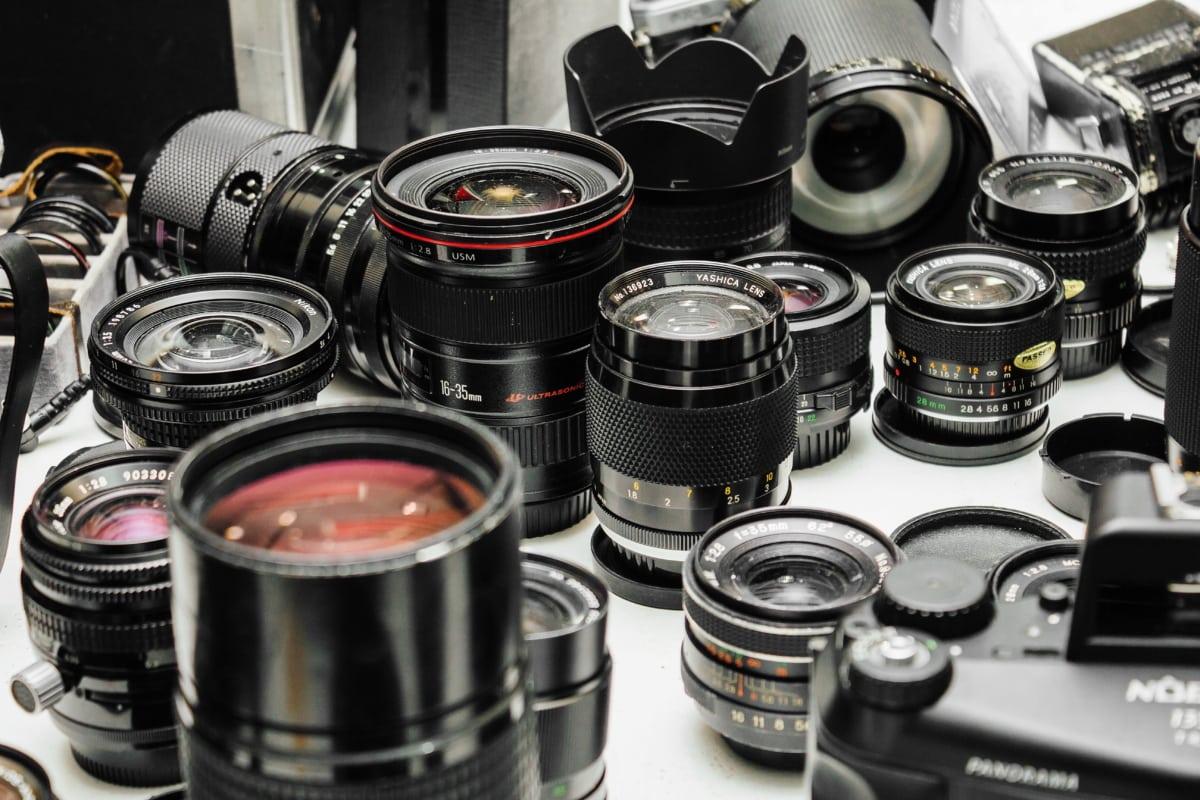 many, lens, object, photography, equipment, camera, film, metal, aperture, mechanism
