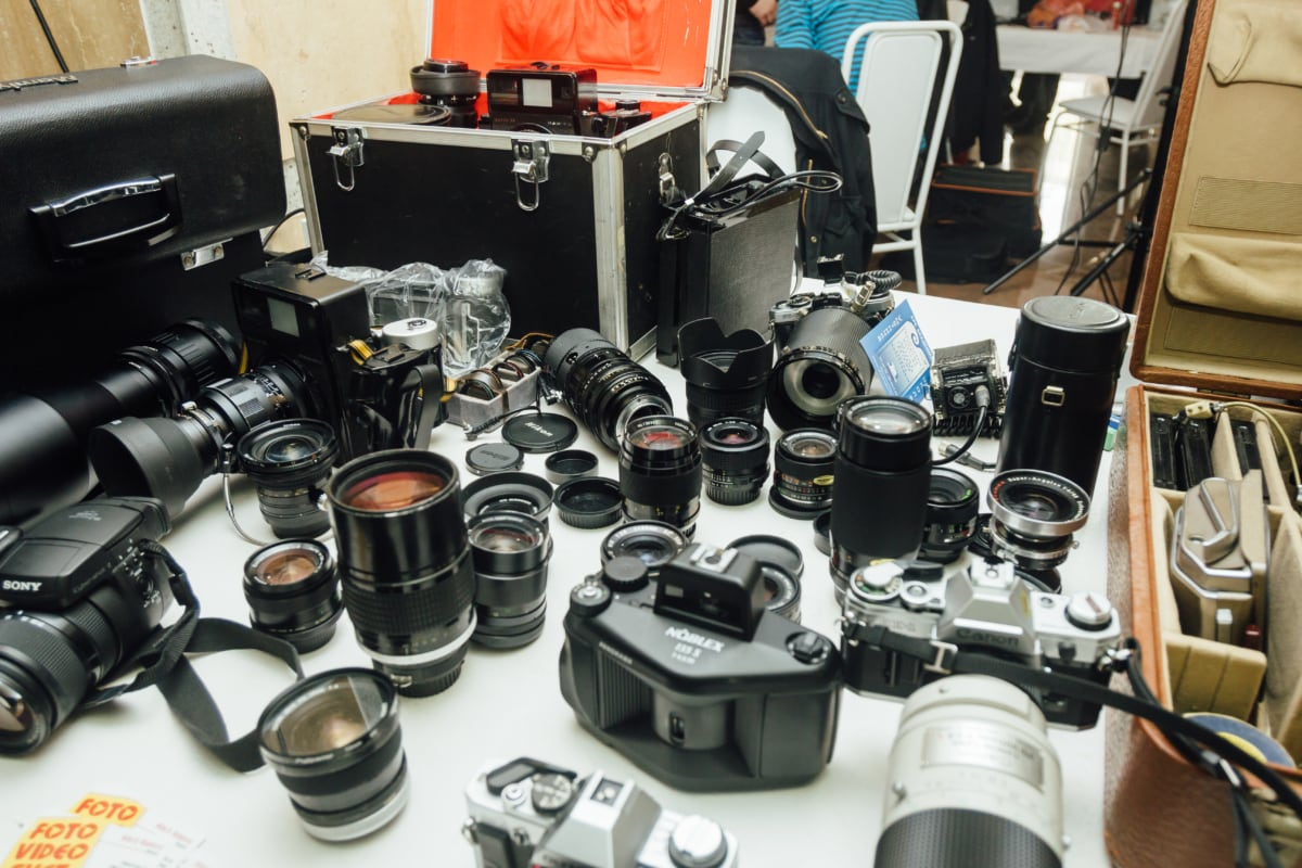 photography, many, lens, store, boxes, photo studio, equipment, technology, aperture, digital camera
