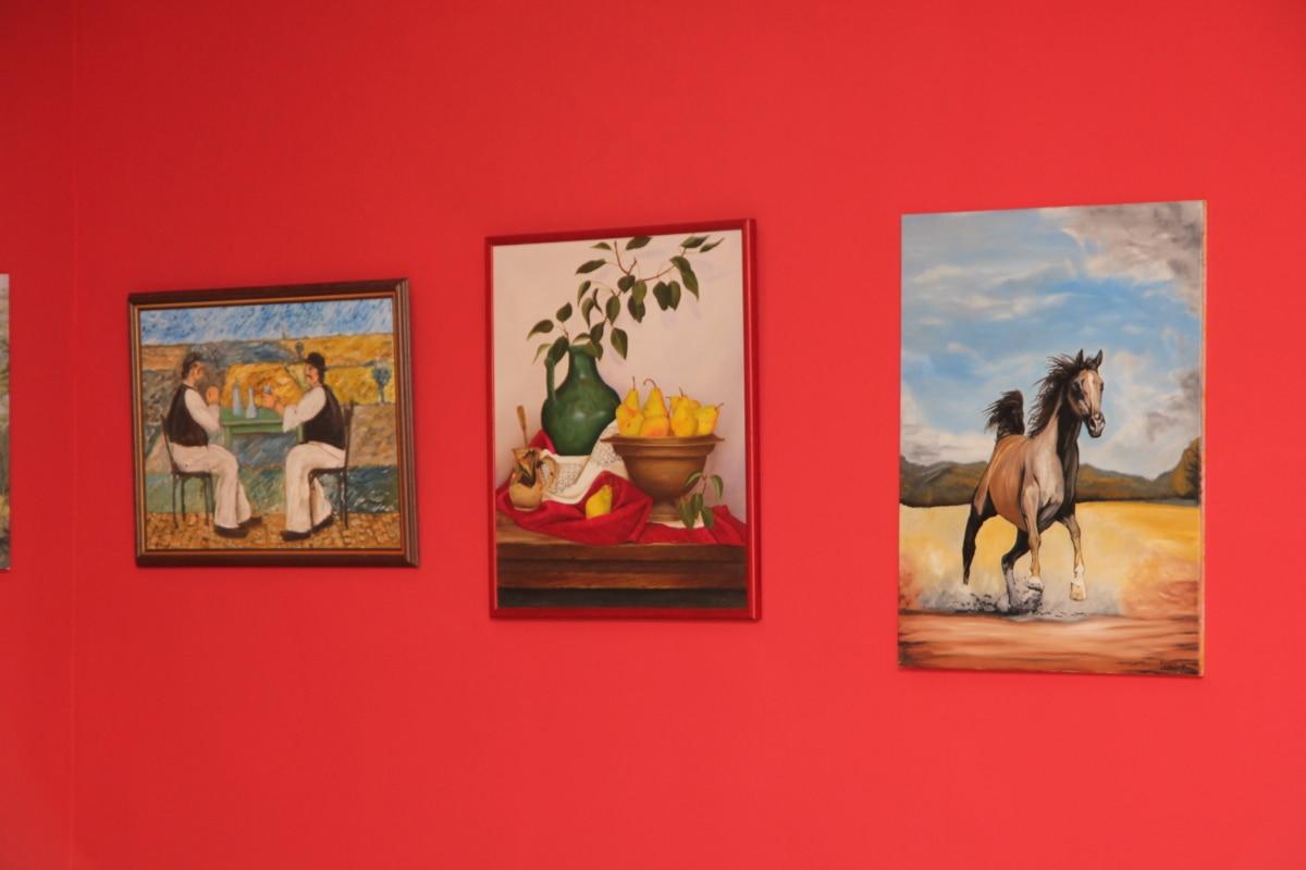 painting, museum, fine arts, illustration, art, building, indoors, artistic, wall, walls