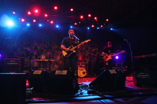 discotheque, nightlife, singer, singing, rock concert, party, nightclub, stage, performance, concert