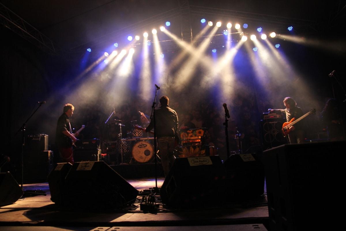 musician, festival, band, performance, singer, concert, stage, music, energy, guitar