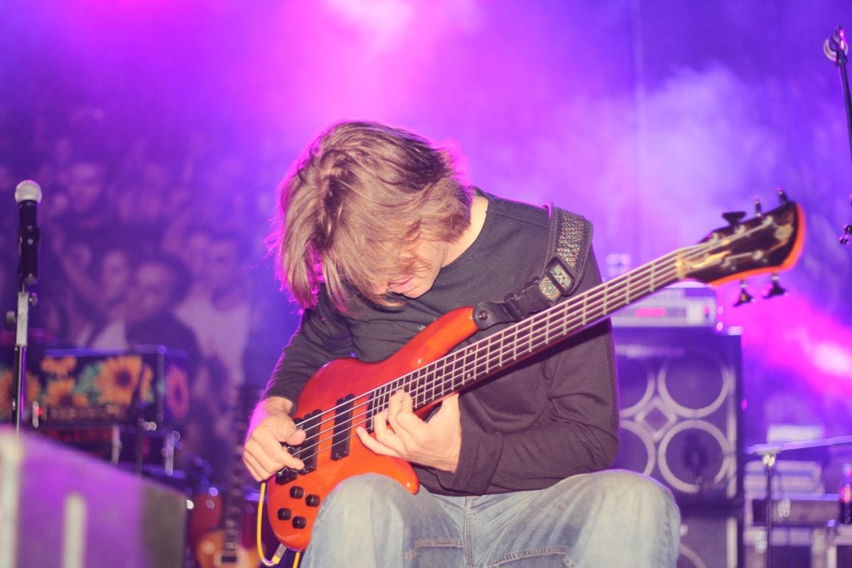 guitarist, rock concert, instrument, singer, musical, performer, guitar, musician, rock, music