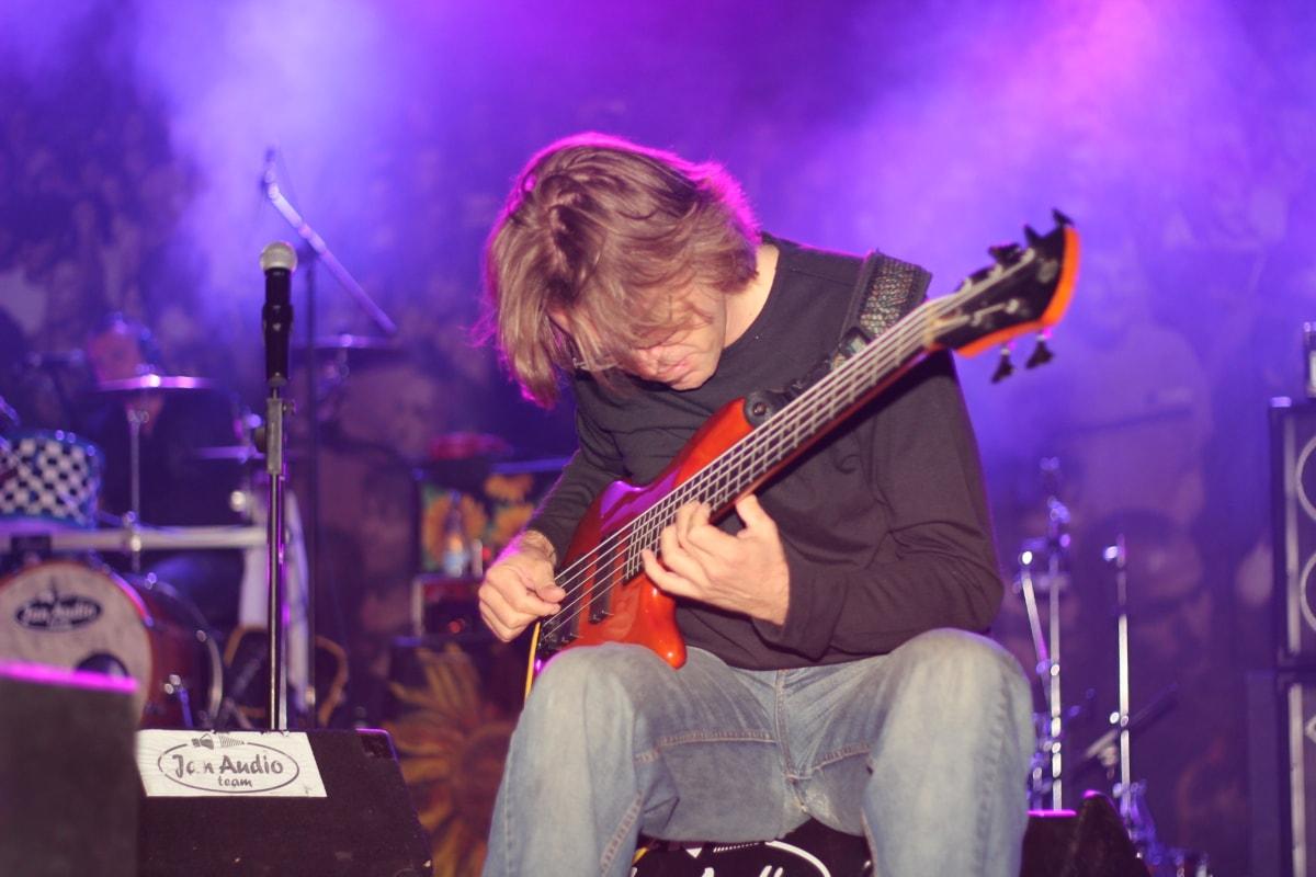 guitarist, concert, melody, nightlife, musical, instrument, music, guitar, performance, musician