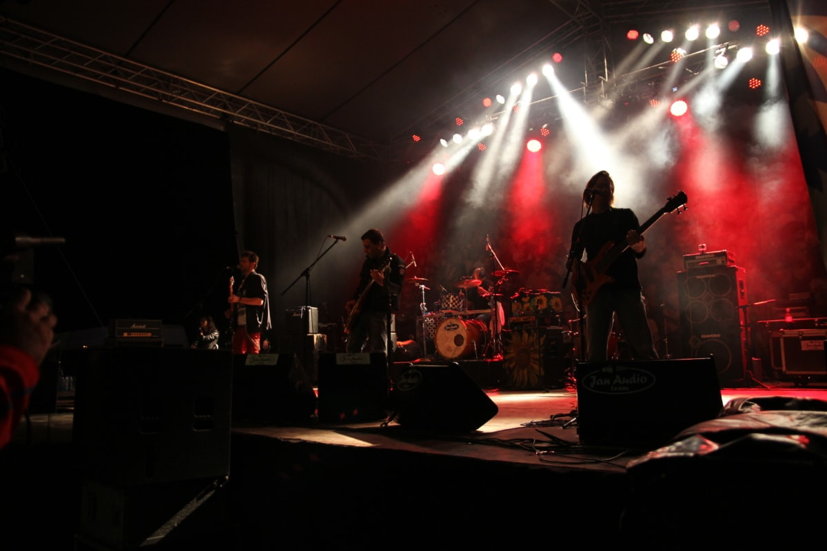rock concert, performance, entertainment, singer, sound, music, concert, band, stage, festival