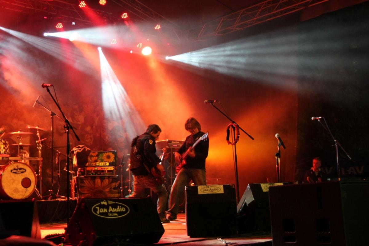 drum, guitarist, rock concert, party, music, performance, band, concert, musician, singer