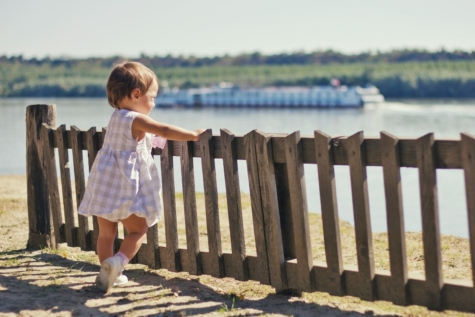 child, picket fence, childhood, sunny, portrait, innocence, beach, girl, fence, outdoors