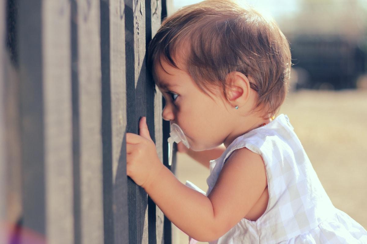 宝贝, 学步, 从项, 女孩, 脸, 阳光, 肖像, 头发, 吸引力, 可爱