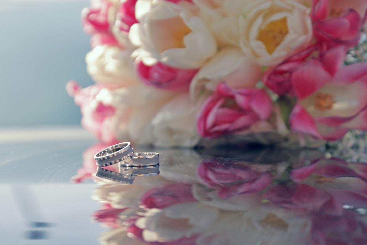 platinum, wedding ring, wedding bouquet, flower, bouquet, petal, pink, wedding, nature, love