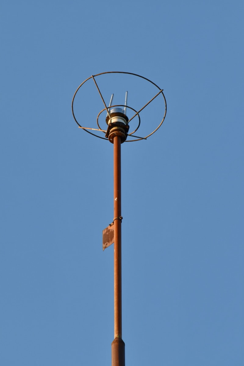 lightning rod, electricity, safety, protection, pole, technology, steel, outdoors, high, old