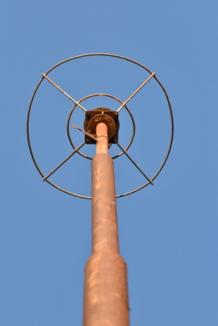 lightning rod, rust, metal, cast iron, tall, protection, antenna, electricity, column, technology
