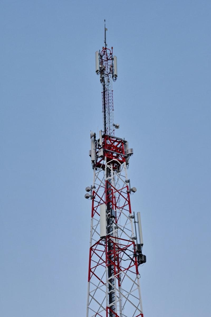 radio receiver, radio station, radio antenna, tower, telecommunication, transmitter, transmission, wireless, high, technology