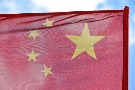 China, stars, symbol, flag, wind, patriotism, retro, country, canvas, administration