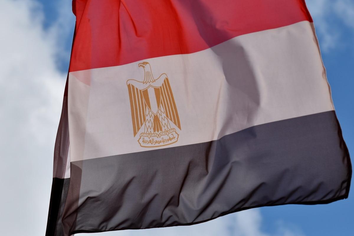 Египет, флаг, хералдика, символ, патриотизъм, емблема, единство, гордост, на открито, платно