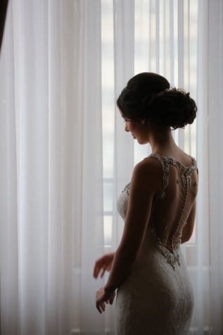 bride, innocence, wedding dress, hairstyle, pretty, woman, window, girl, fashion, indoors