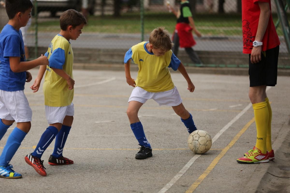 trainer, soccer ball, training program, adolescence, childhood, team, children, teamwork, competition, soccer