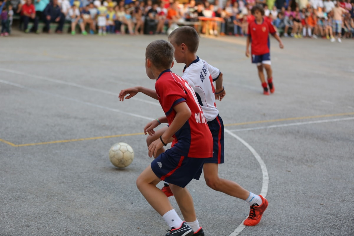 team, boys, children, soccer ball, tournament, athlete, competition, ball, player, game